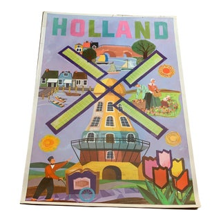 1950s Holland Travel Poster For Sale