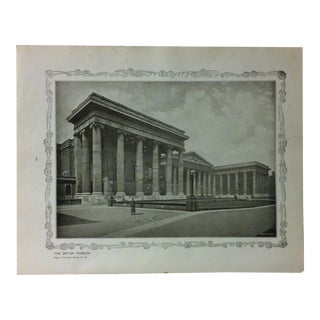 """1906 """"The British Museum"""" Famous View of London Print For Sale"""