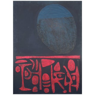1970s Vintage Andy Nelson Original Abstract Painting For Sale