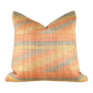 Ikat Raw Silk Pillow Cover For Sale