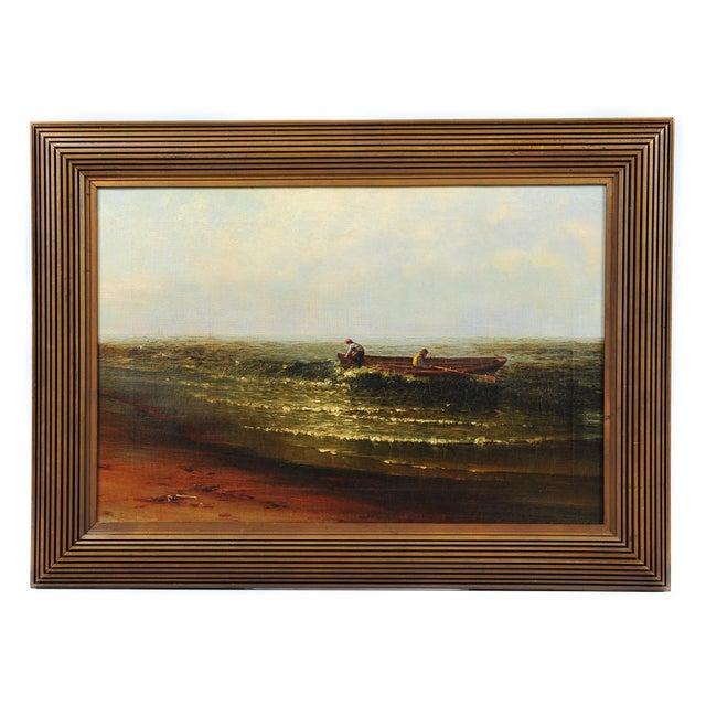 """Harry J. Sunter 1880 """"Fishermen Offshore"""" Painting - Image 1 of 9"""