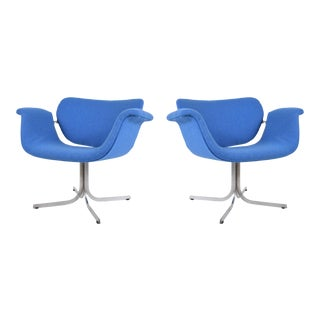 Vintage Pierre Paulin Lounge Chairs in Maharam Fabric - a Pair For Sale