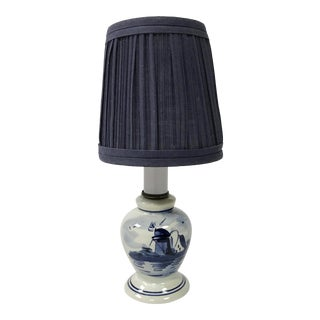 Petite Delft Task Lamp For Sale