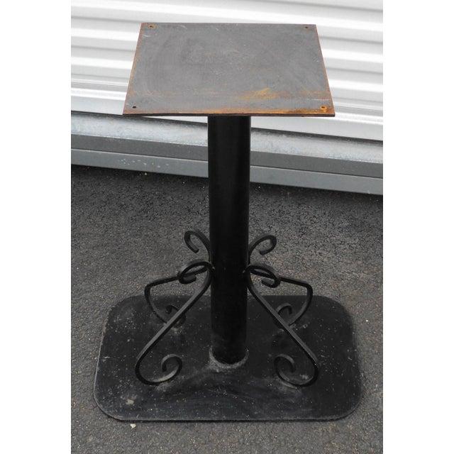 Metal Antique Black Painted Art Deco Cast Iron Table Base For Sale - Image 7 of 11