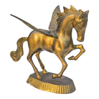 Vintage Brass Winged Horse For Sale