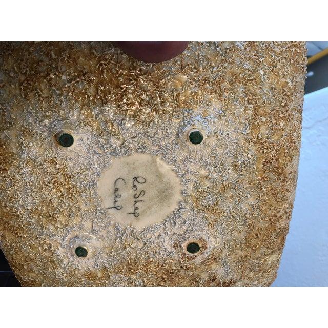 "Ceramic Rose ""Ro"" Shep Art California Pottery Seal Beach Ashtray For Sale - Image 7 of 8"