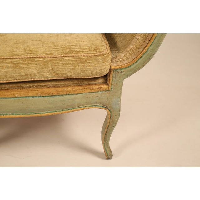 Mid 19th Century Antique Camelback Piedmont Sofa For Sale In Dallas - Image 6 of 9