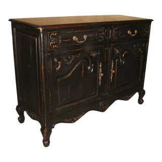 Sideboard Small French Country Parquet Top Carved For Sale