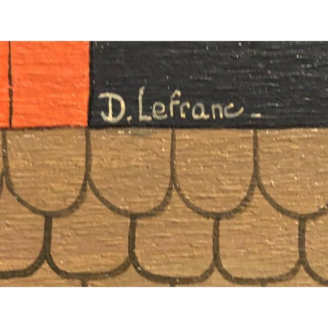 Mid-Century Painting - La Marchande De Bonbons by Dominique LeFranc 1979 For Sale - Image 4 of 10