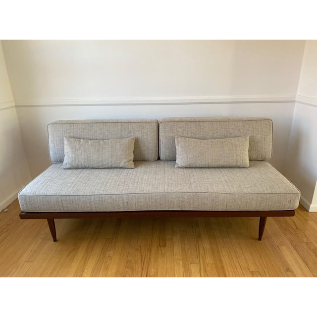 Mid-Century Gray Sofa For Sale - Image 13 of 13