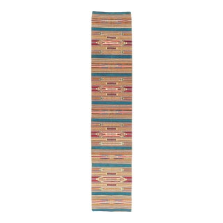 Mid-20th Century Vintage Persian Tribal Handmade Flatweave Kilim Rug in Runner Format For Sale