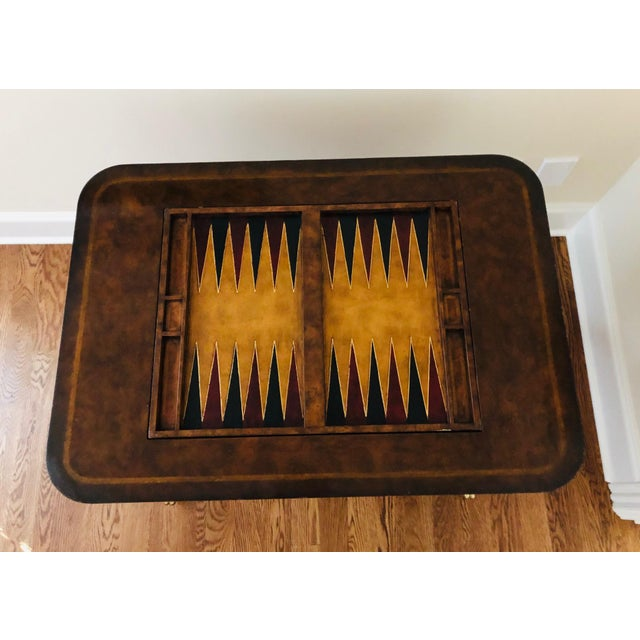 Maitland - Smith 1990s Maitland-Smith English Regency Game Table For Sale - Image 4 of 13