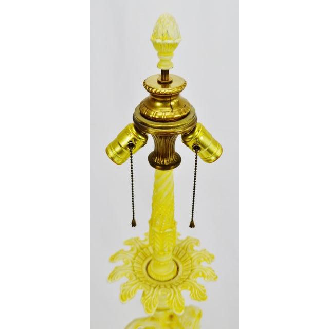 Vintage Figural Cast Metal Lamp - Image 3 of 10