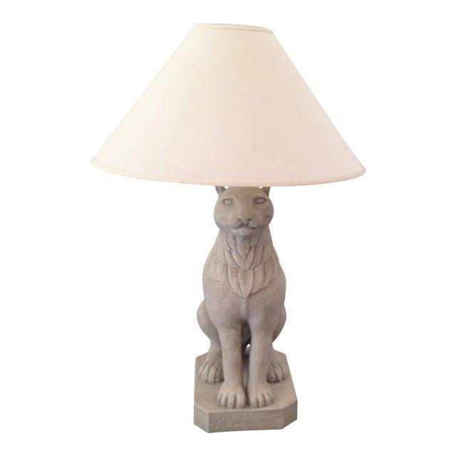 Regal Stone Cat Lamp - Image 1 of 5