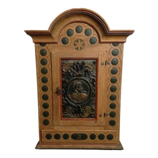 1822 Folk Art Aquavit Cabinet For Sale