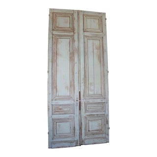 Set of Three 19th Century Large Entry Doors For Sale