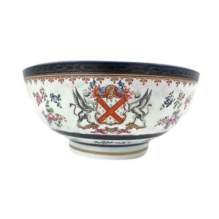 Large 19th-C French Porcelain Bowl For Sale