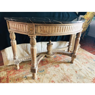 French Country Painted Demi-Lune Table Preview