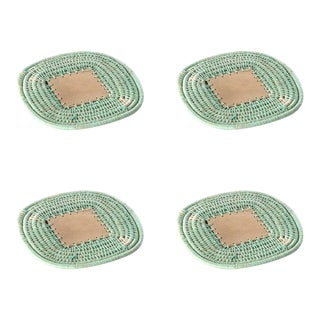 Square Coasters Mint - Set of 4 For Sale