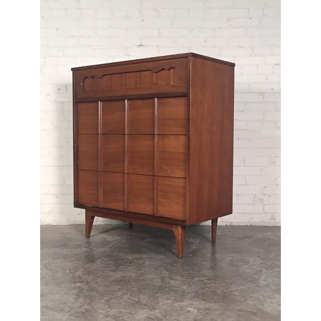 Walnut Mid-Century Four-Drawer Dresser - Image 2 of 9