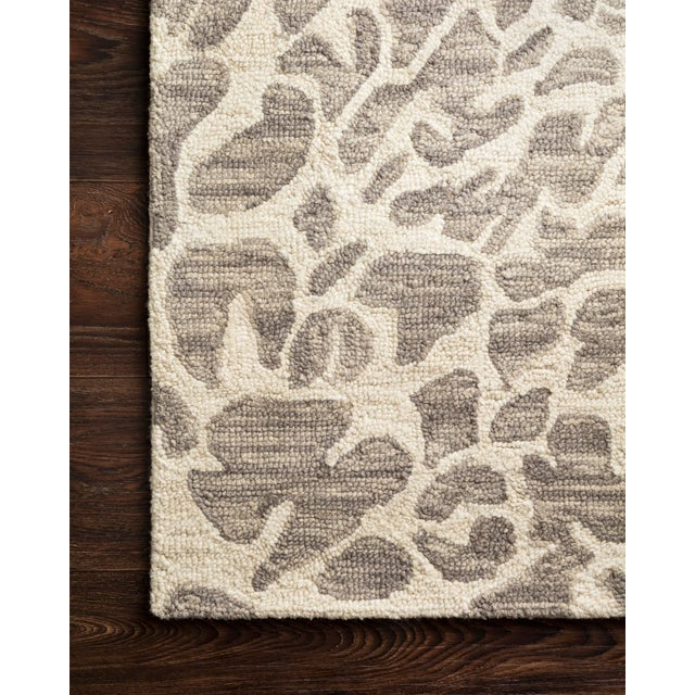 "Contemporary Loloi Rugs Masai Rug, Gray / Ivory - 7'9""x9'9"" For Sale - Image 3 of 4"