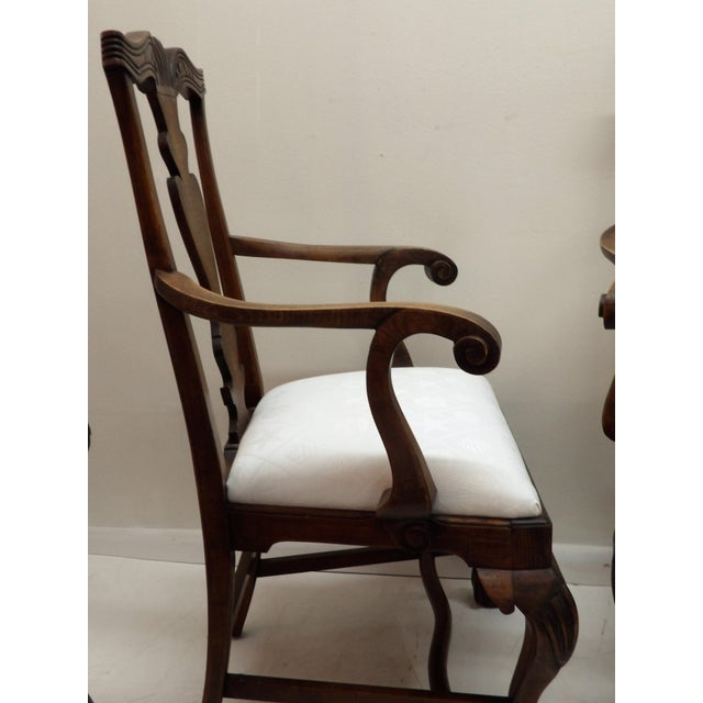 Mid 20th Century Vintage Carved Wood Dining Chairs - Set of 4 For Sale - Image 5 of 8