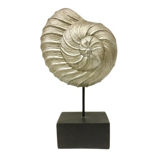 Plaster Art Sculpture of Large Shell For Sale