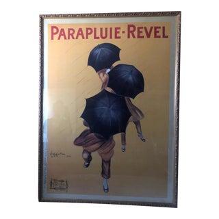 "Leonetto Cappiello ""Parapluie Revel"" Large Framed Antique Poster For Sale"