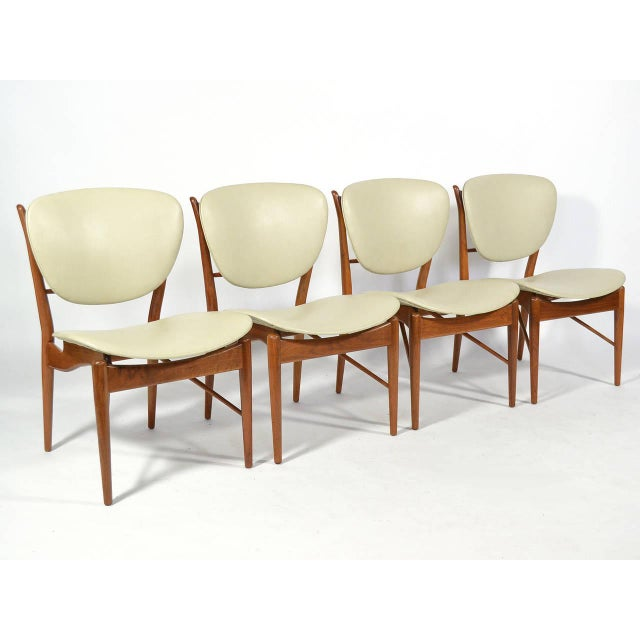 Danish Modern Finn Juhl Dining Table and Chairs For Sale - Image 3 of 11