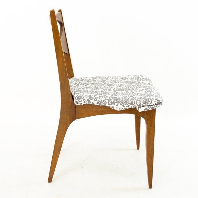 1960s John Van Koert for Drexel Profile Mid Century Walnut Dining Chairs - Set of 4 For Sale - Image 5 of 13
