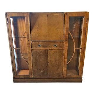 Art Deco Mahogany Secretary Desk For Sale