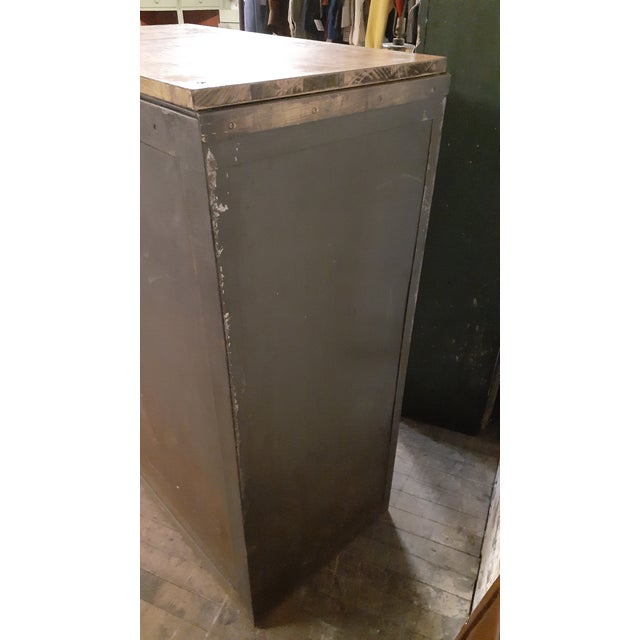 1940s Industrial Browne-Morse Filing Cabinet For Sale - Image 9 of 10