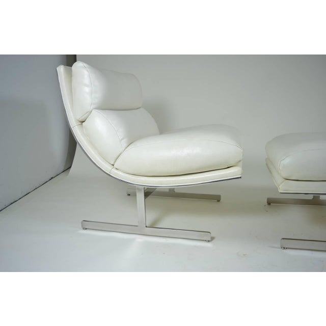 Modern Lounge Chair and Ottoman by Kipp Stewart for Directional, circa 1970 - Image 3 of 10