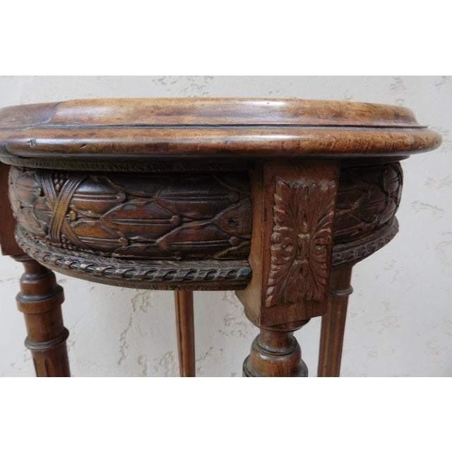 French Louis XVI Style Round Gueridon Table - Image 5 of 6