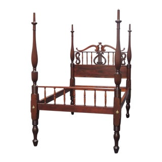 19th C St. Croix Stylized Regency Mahogany Queen Bed