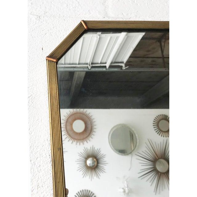 Mid-Century Modern Vintage Italian Mirror. For Sale - Image 3 of 5