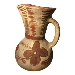 Vintage Mexican Pottery Pitcher For Sale