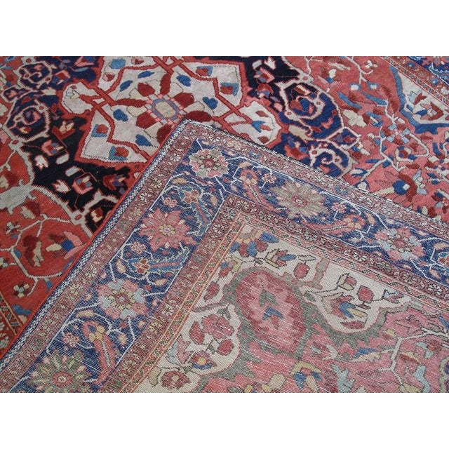 Antique Feraghan Sarouk Rug For Sale - Image 10 of 10