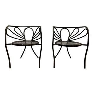 Walter Coons for Clark & Burchfield Armchairs - a Pair For Sale