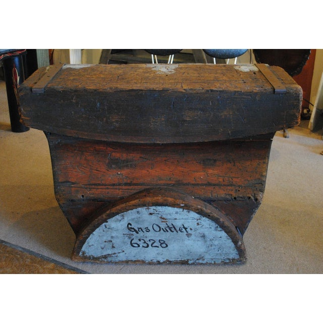 Industrial Foundry Mold Side Table - Image 3 of 8