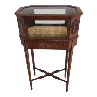 19th Century Adams Pedestal Vitrine For Sale