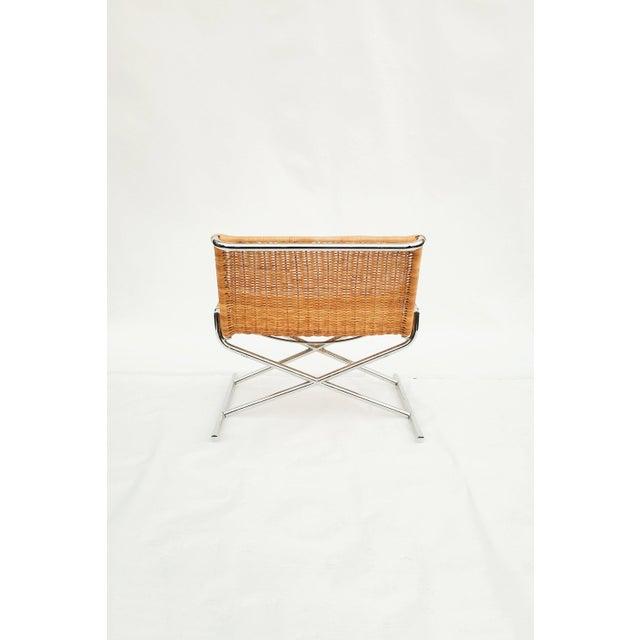 Ward Bennett Wicker Sled Lounge Chair for Brickel Associates For Sale In Seattle - Image 6 of 10
