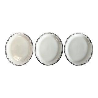 Black & White Platters - Set of 3 For Sale