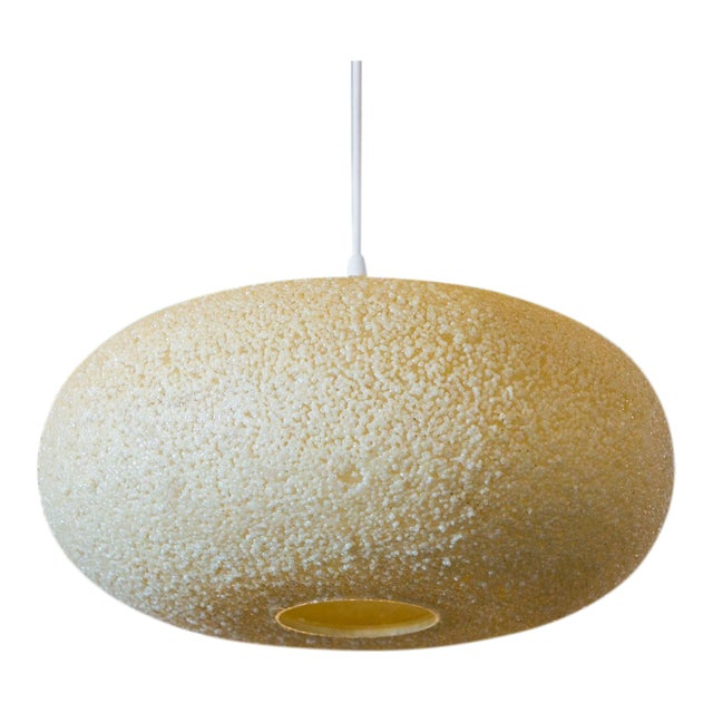 Modern Textured Spherical-Shaped Light For Sale