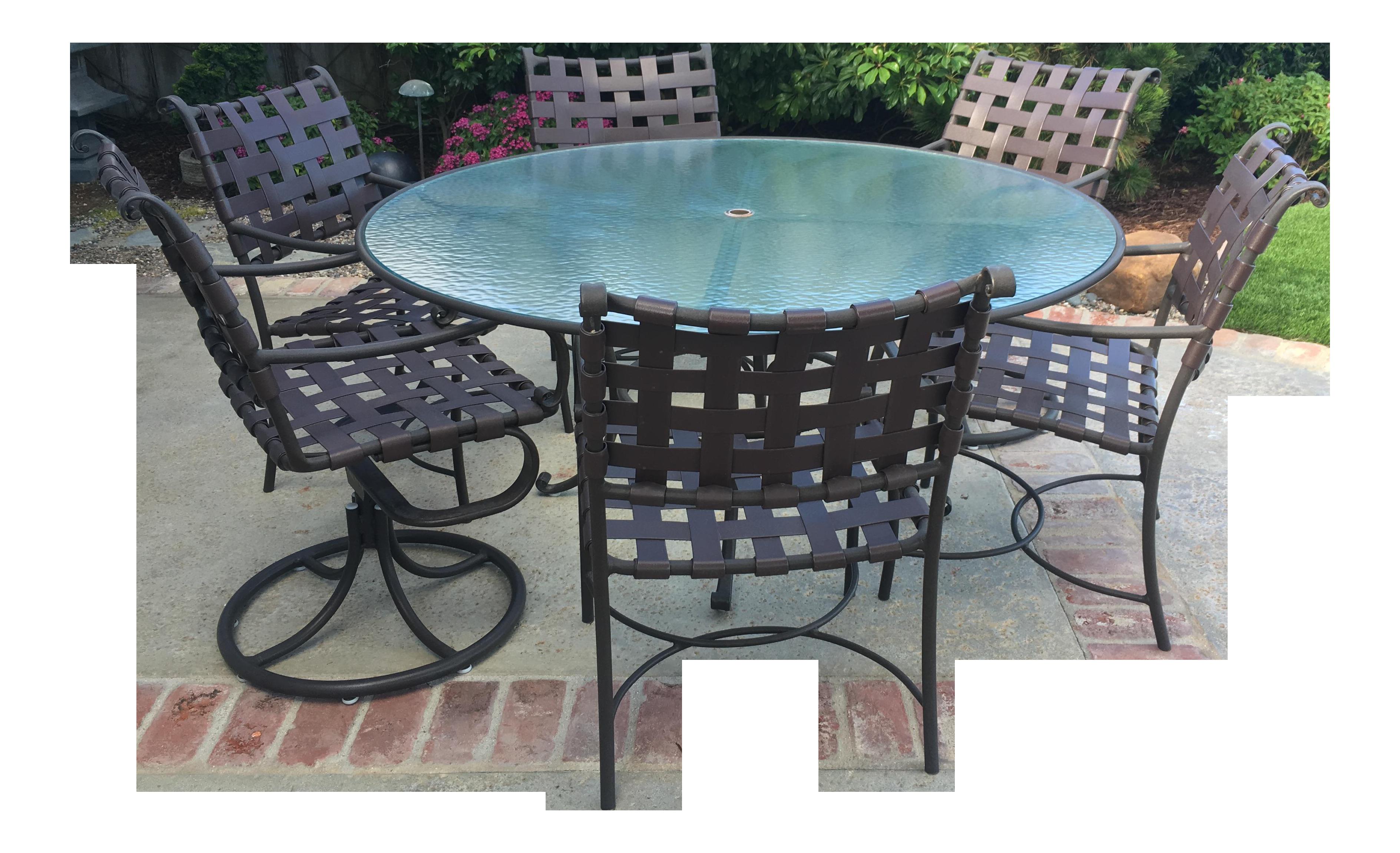 Brown Jordan Roma Collection Dining Table u0026 Six Chairs- Set of 7  sc 1 st  Chairish & Brown Jordan Roma Collection Dining Table u0026 Six Chairs- Set of 7 ...