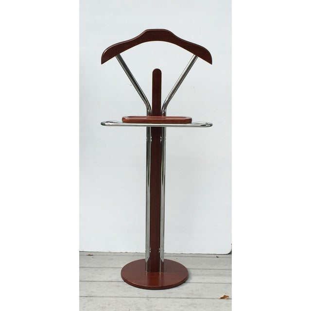 Chrome & Wood Men's Valet Stand - Image 2 of 7