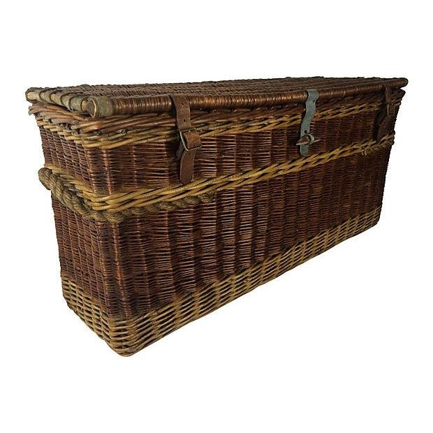 Antique English Carriage Travel Trunk - Image 3 of 3