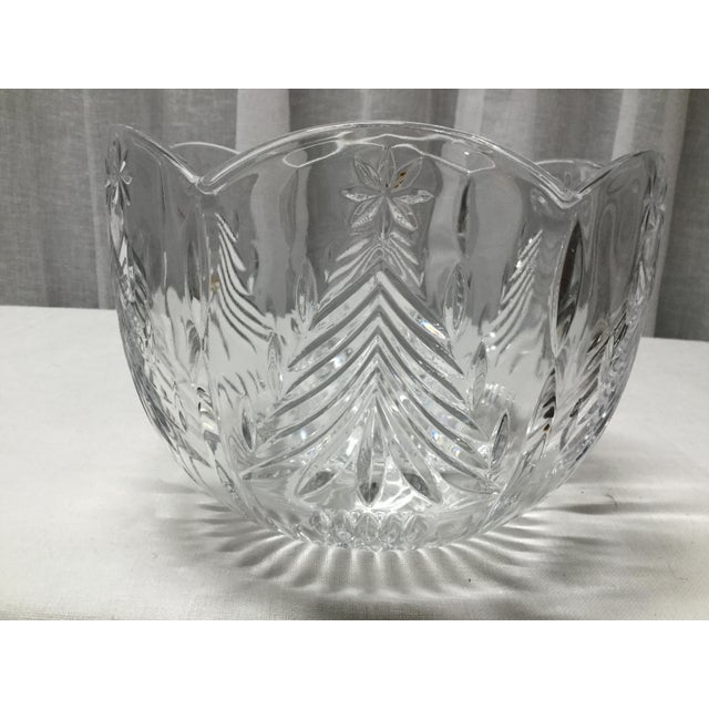 Mid 20th Century Mid 20th Century Christmas Trees Lead Crystal Serving Bowl For Sale - Image 5 of 5