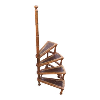 Vintage English Library Stairs For Sale