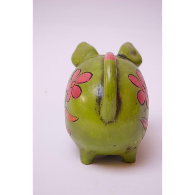 Vintage Japanese Paper Mache Piggy Bank For Sale In New York - Image 6 of 11